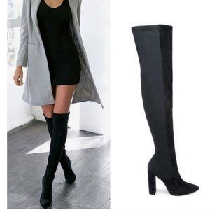 Steve Madden OTK Essence Black boots sz 8